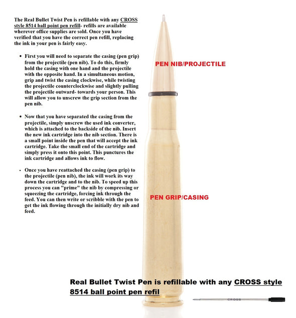 US Air Force .50 Caliber Twist Pen