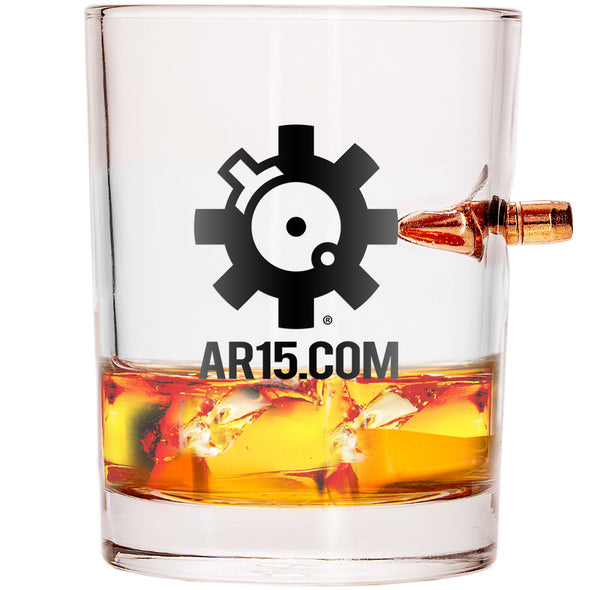 Special AR15.COM Edition .308 Bullet Whiskey Glass (Set of 2)