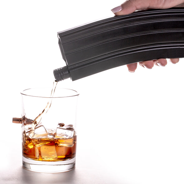Bullet Whiskey Glass and Flask