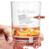 .308 Bullet Whiskey Glass - We the People Flag
