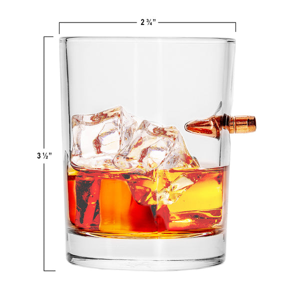 .308 Bullet Whiskey Glass Gift Boxed Set of 2