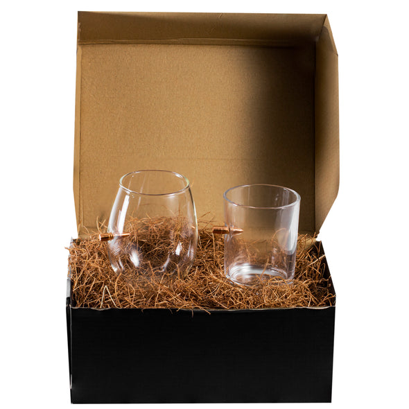 Whiskey and Wine Glass Gift Set