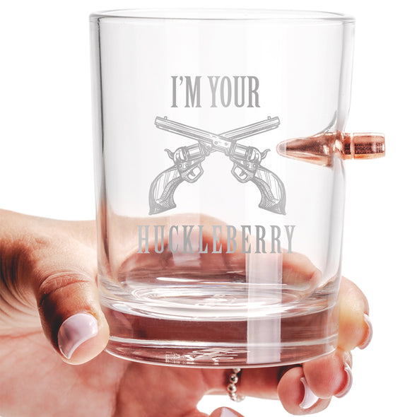 .308 Bullet Whiskey Glass - I'm Your Huckleberry