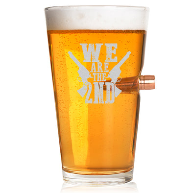 .50 Caliber Bullet Pint Glass - We Are the Second