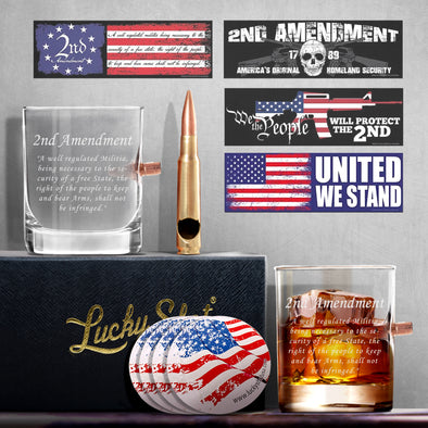 2nd Amendment Bullet Whiskey Gift Set