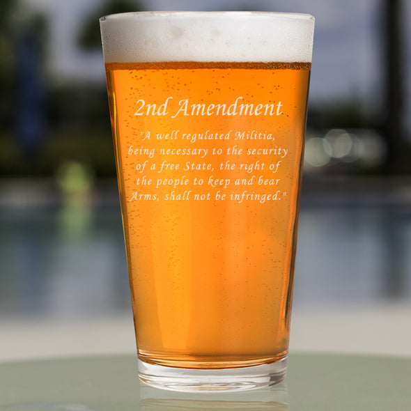 Pint Glass - 2nd Amendment