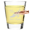 .308 Bullet Shot Glass - Eagle Land of the Free Home of the Brave