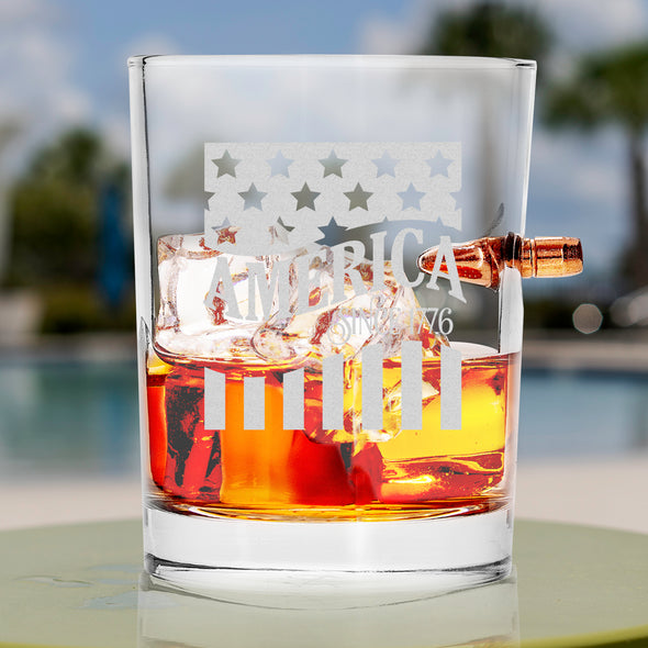 .308 Bullet Whiskey Glass - America Since 1776