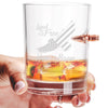 .308 Bullet Whiskey Glass - Eagle Land of the Free Home of the Brave