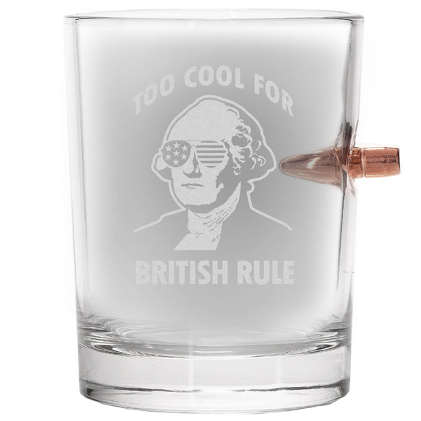 .308 Bullet Whiskey Glass - Too Cool for British Rule