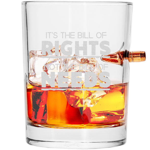 .308 Bullet Whiskey Glass - Bill of Rights