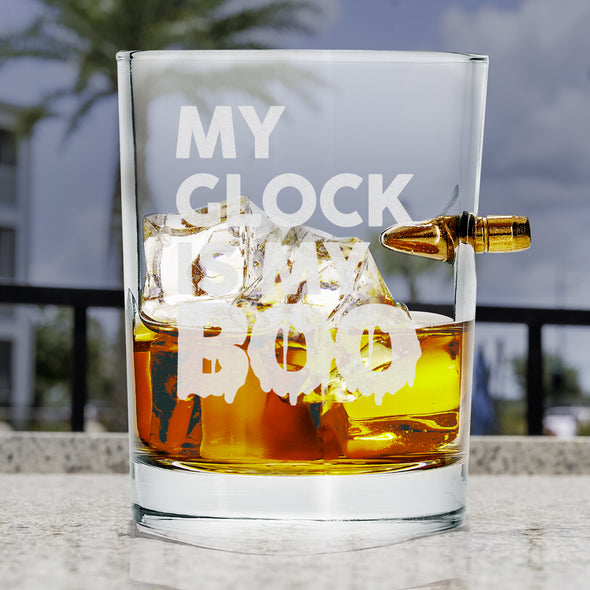 .308 Bullet Whiskey Glass - My Glock is my BOO