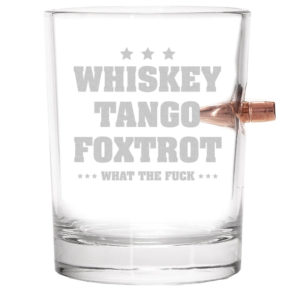 .308 Bullet Whiskey Glass - WTF Whiskey Tango Foxtrot