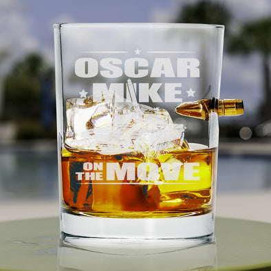 .308 Bullet Whiskey Glass - Oscar Mike On the Move