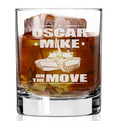 Whiskey Glass - Oscar Mike On the Move