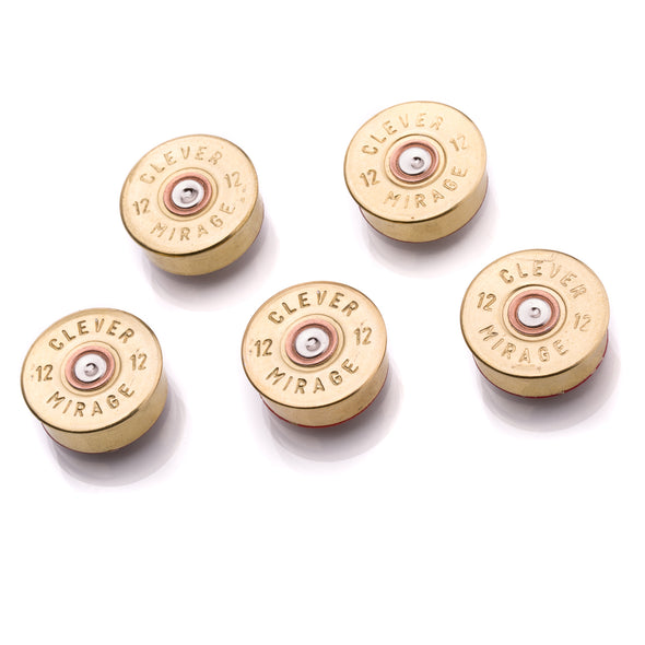 12 Gauge Real Bullet Magnets - Brass (5 per pack)