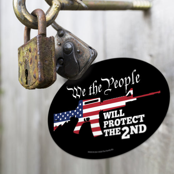We The People Protect the Second 6x4 Oval Magnet