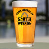 Pint Glass - Home Insured by Smith & Wesson