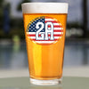 Pint Glass - 2A Flag Oval