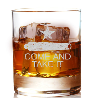 Whiskey Glass - Come and Take It Cannon