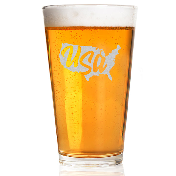 Pint Glass - USA Outline