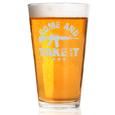 Pint Glass - Come and Take It Gun
