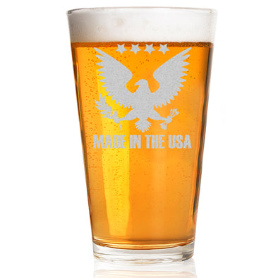 Pint Glass - Made in USA Eagle