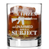 Whiskey Glass - Armed Man