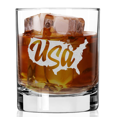 Whiskey Glass - USA Outline