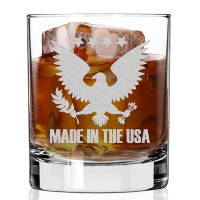 Whiskey Glass - Made in USA Eagle