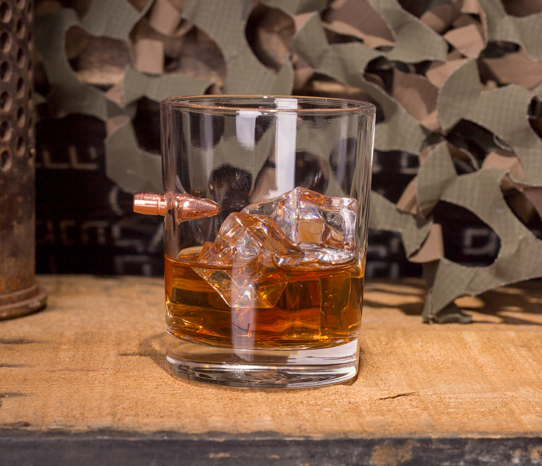 308 Bullet Whiskey Glass