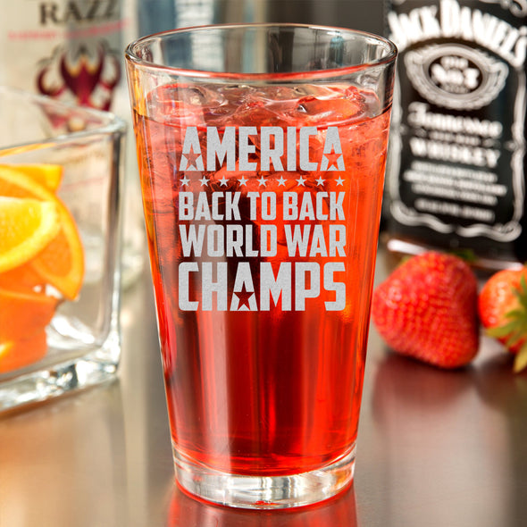 Pint Glass - Back to Back World War Champs