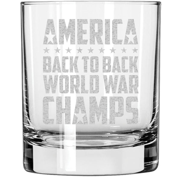 Whiskey Glass - Back to Back World War Champs
