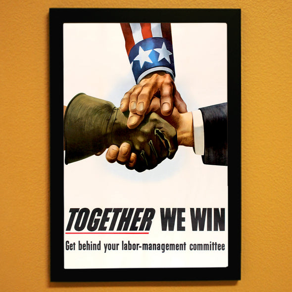 Together We Win World War II Poster
