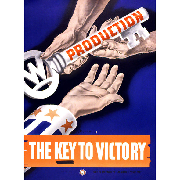 Production - The Key To Victory World War II Poster