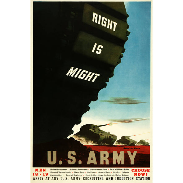 Right Is Might World War II Poster