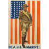 Be A U.S. Marine! World War II Poster