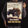 Save Rubber Check Your Tires Now World War II Poster