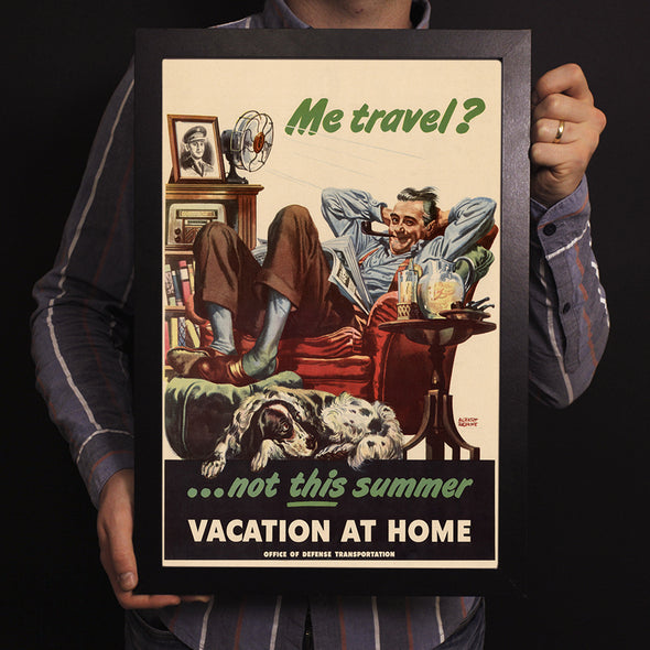 Vacation At Home World War II Poster