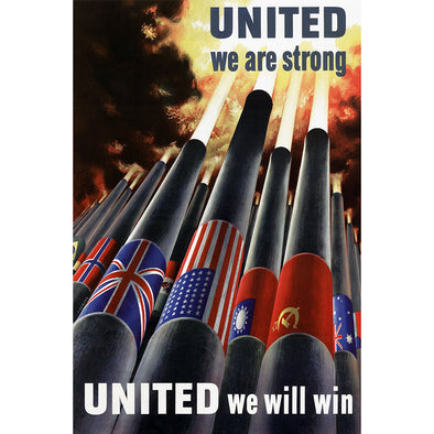 United We Are Strong World War II Poster