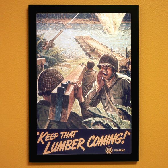 Keep That Lumber Coming! World War II Poster