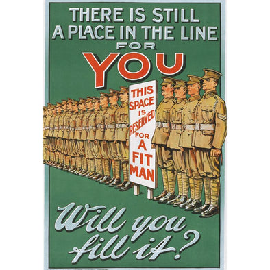 There Is Still A Place In The Line For You World War II Poster