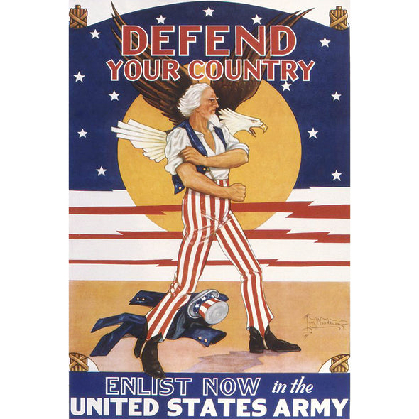 Defend Your Country World War II Poster