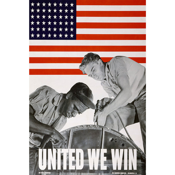 United We Win World War II Poster