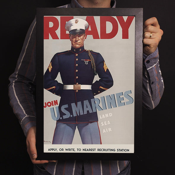 Ready Join U.S. Marines World War II Poster