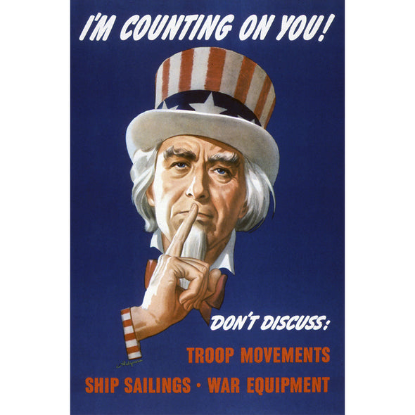 I'm Counting on You World War II Poster