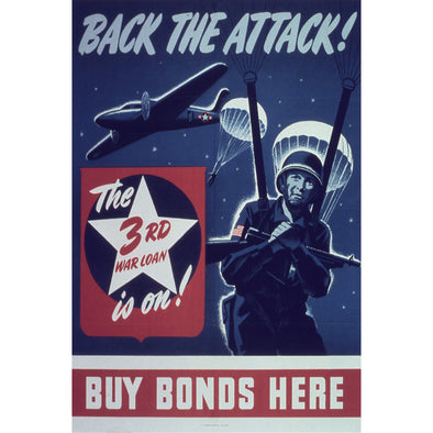 Back the Attack World War II Poster