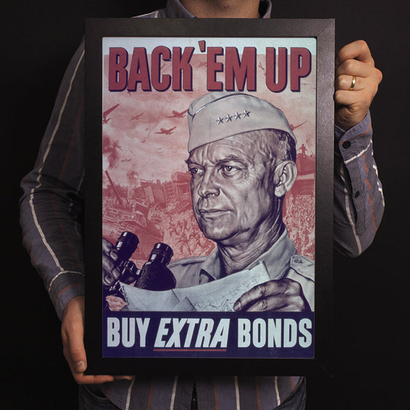 Back 'Em Up - Buy Extra Bonds World War II Poster