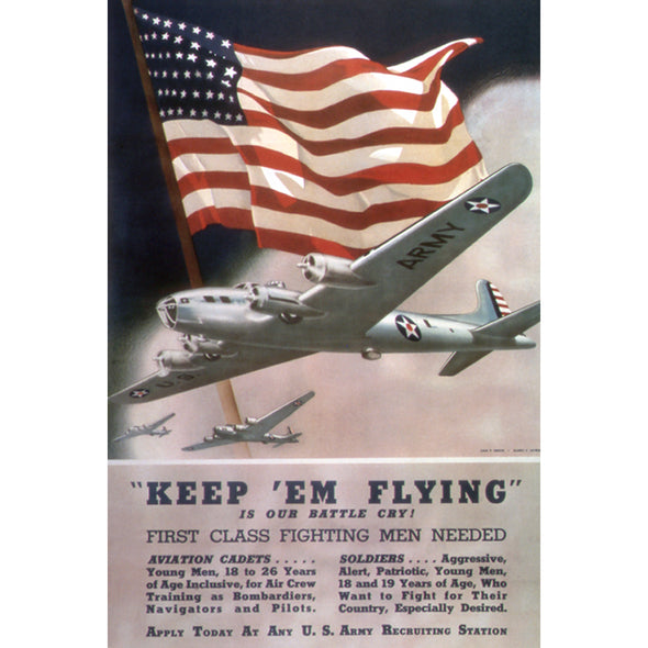 Keep 'Em Flying World War II Poster