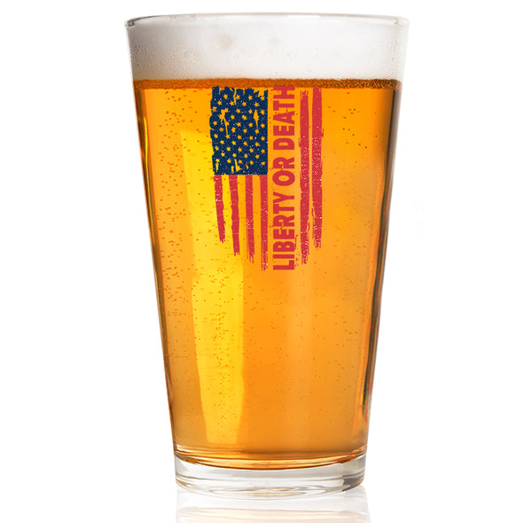 Pint Glass - Liberty or Death Flag